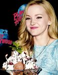 Dove Cameron and a big ice cream