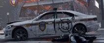 Damaged Police interceptor