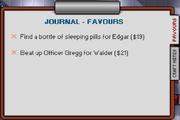 Screenshot Journal Favors