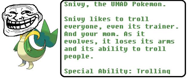 Snivy randomified Pokedex