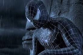 Black Suit Spidey in the rain