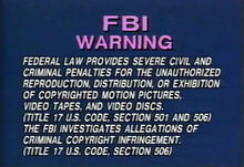 Vidmark Warning Screen