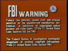 20th Century FOX FBI Warning Screen 1a