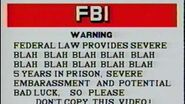 Funny FBI warning from VHS