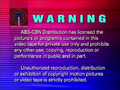 ABS-CBN Distribution Warning Screen
