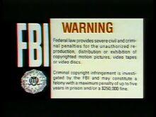 Warner Home Video Warning 3