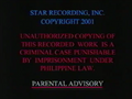 Star Records Warning Screen 1