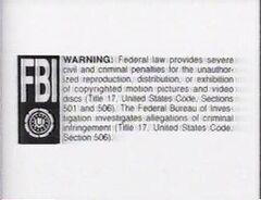 Turner FBI Warning Screen 1