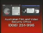 CBS-FOX Video Australian Piracy Warning (1988) AFaVSO information