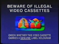 Columbia TriStar Home Entertainment Piracy Warning (2001) Hologram