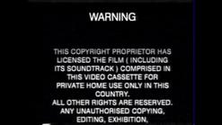 Hoyts Video Piracy Warning (1990) VHS cassette