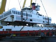 MV Red Osprey with her Superstructure being removed