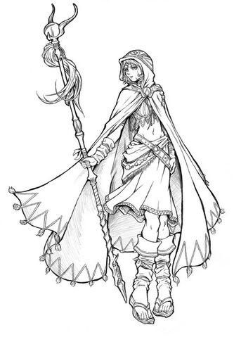 File:White Mage Dissidia II Art.jpg