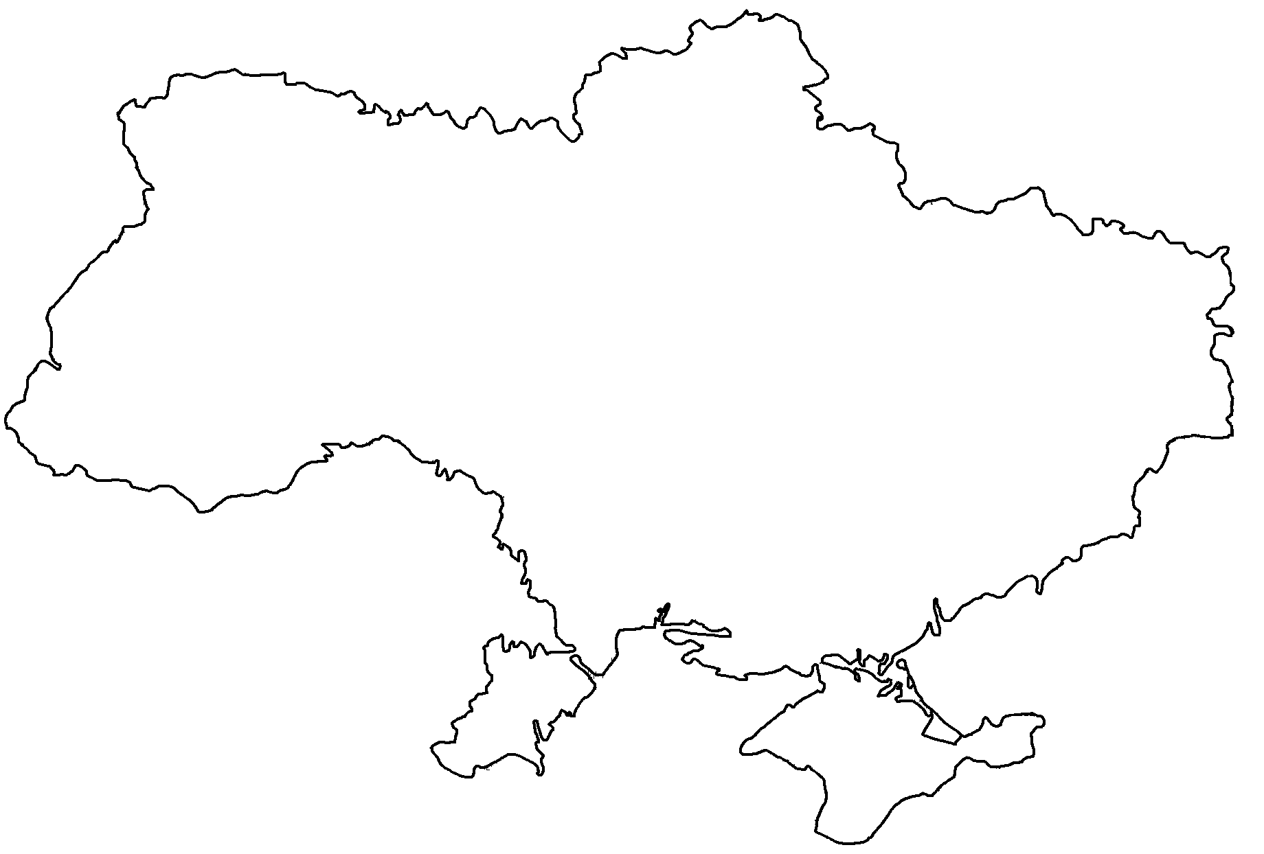 blank map of ukraine
