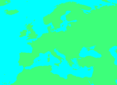 Blank map of Europe - No borders2