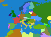 Map Europe Colored Without European Union