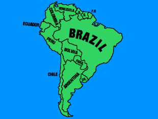 South american map