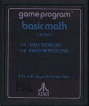 Basic Math Atari 2600 Cart