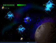 Asteroids PS1 Gameplay