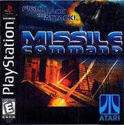 Missile Command PS1 Box Art