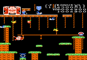 Donkey Kong Junior 7800 Gameplay