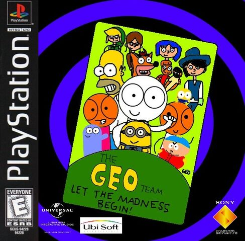 File:The Geo Team - Let the Madness Begin! PS1 cover art NTSC.jpg