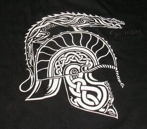Dragon Helm t shirt detail by Efenleot