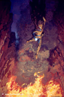 Ted Nasmith - Maedhros Casts Himself into a Chasm