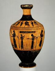 Vase Painting Greek Attic Amasis 550-530BC