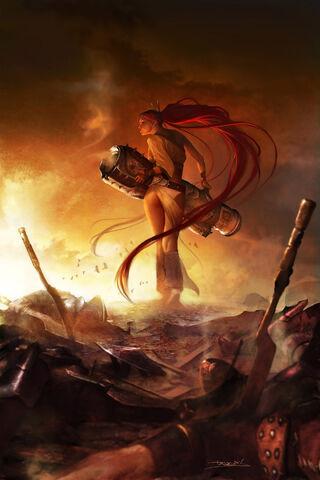 File:Nariko With Launcher In Heavenly Sword.jpg