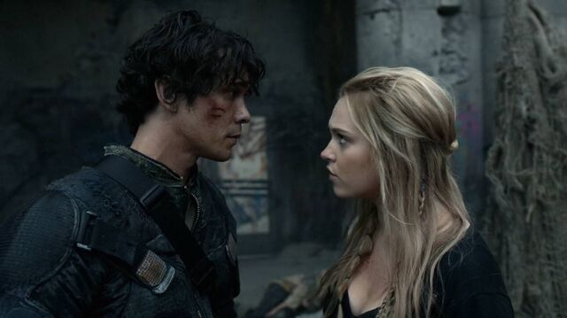 File:The100 S4 Echoes Clarke and Bellamy.jpg