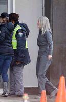 Julianne Moore on set of Mj