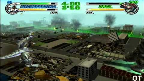Godzilla Destroy All Monsters Melee Gamecube - Mecha-Godzilla vs Orga