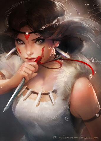 File:Princess mononoke by sakimichan-d4jw7ry.jpg