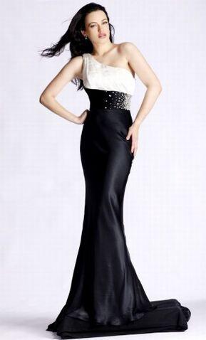File:One-shoulder-black-white-long-prom-dress-302x500.jpg