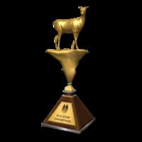 Trophy elk cow gold