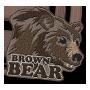 Brown bear badge