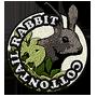 Cottontail rabbit badge