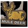 Mule deer badge
