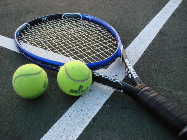 File:Tennis Racket and Balls.jpg