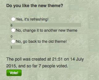Poll 4 - Do you like the new theme?