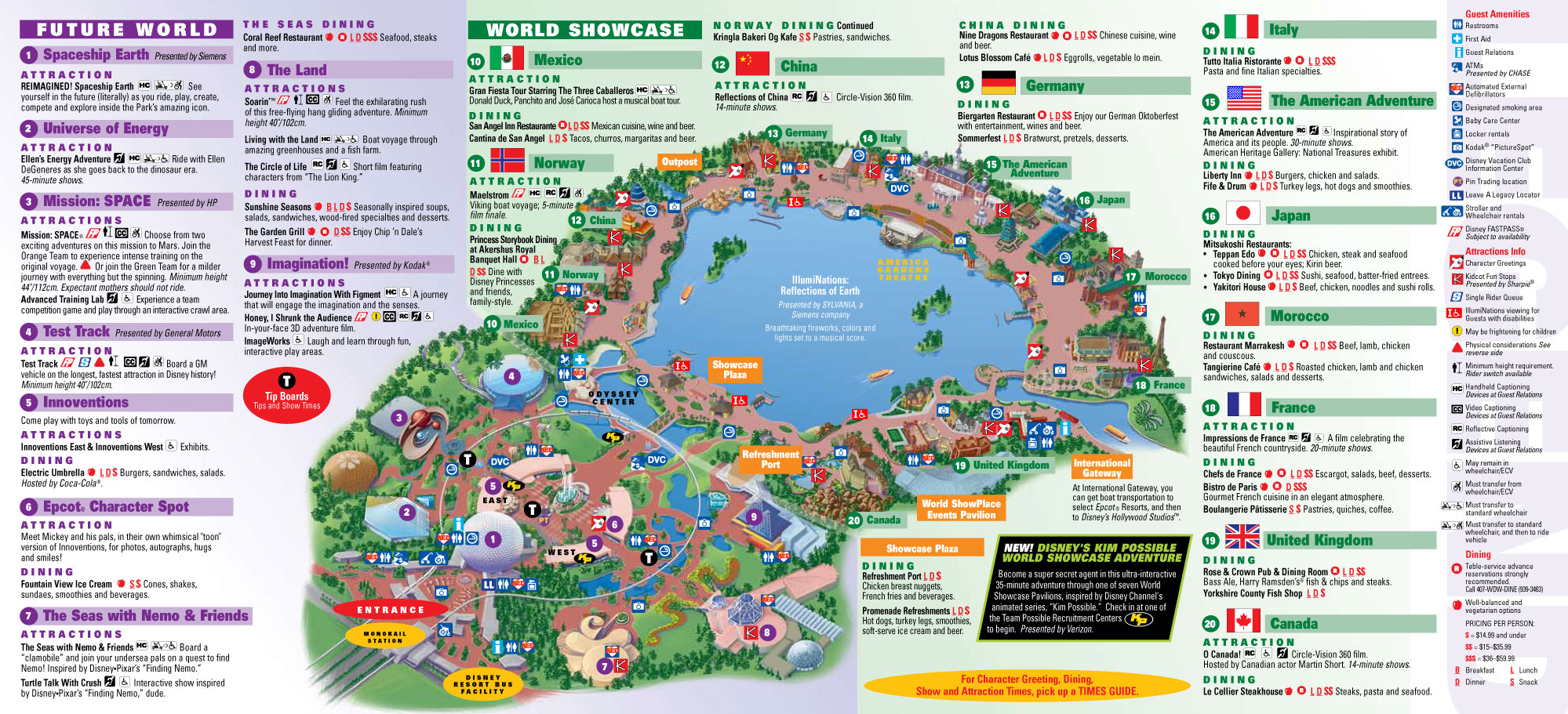 Countries In Epcot Map Epcot Center Attractions Inspiring World