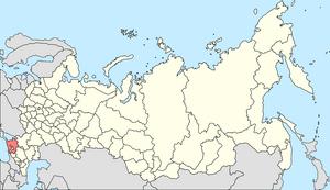 Map of Russian Soviet Federative Socialist Republic, Soviet Union - Krasnodor Krai