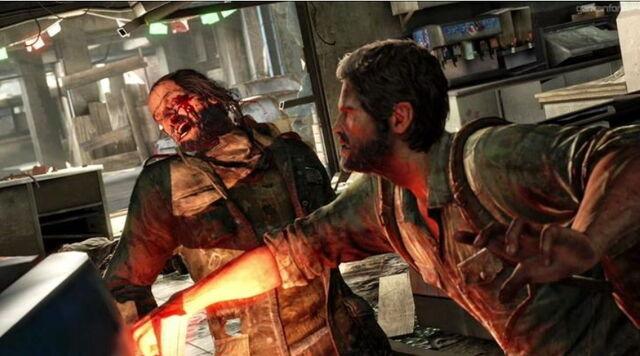 Archivo:Joel Brutally punching human enemy.jpg