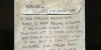 Note to Rachel