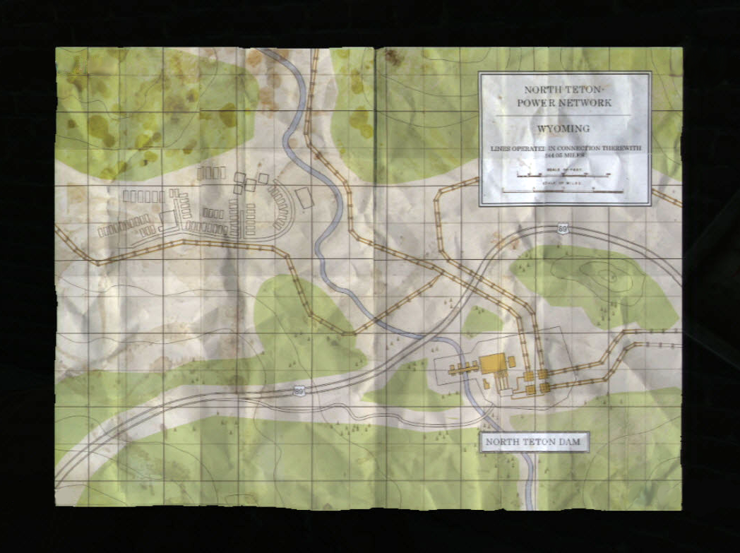 Power Plant Map The Last Of Us Wiki FANDOM Powered By Wikia - Map of powered dams in the us