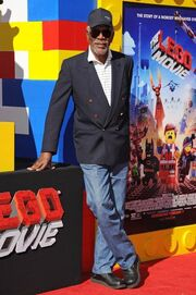 Morgan Freeman Lego Movie Premiere