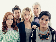 Eve and Jenkins with the Librarians season 1 promotional