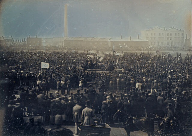 File:William Edward Kilburn - View of the Great Chartist Meeting on Kennington Common - Google Art Project.jpg