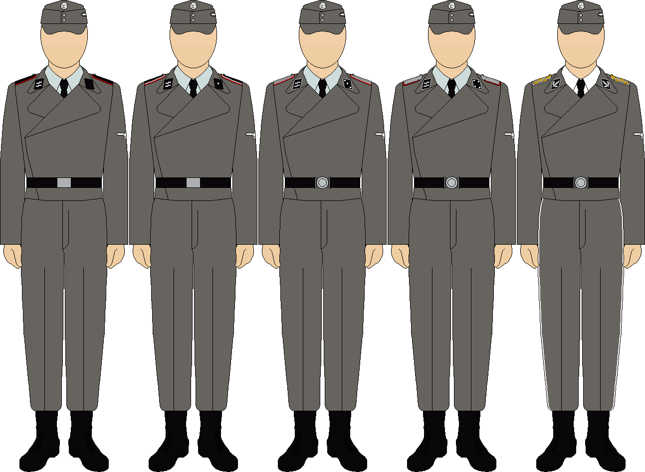 Waffen ss panzerartillerie troops everyday uniforms by thefalconette-d5be6pu